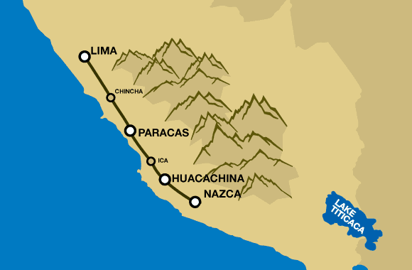Huacachina Peru Map.3 Day Trip From Lima Night In Paracas Huacachina Escape From Lima